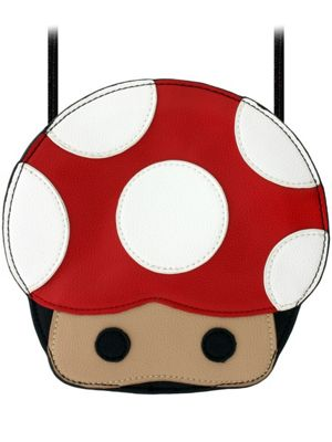 Adorable Mushroom Head Cross Body Handbag 19 x 18.5 x 4cm