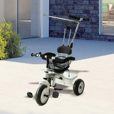 Homcom Kids 3 Wheels Ride-on Bike Children Trikes w/ Handles Brake Overhead Protective