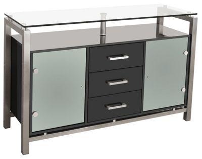 Home Essence 3 Drawer Display Cabinet - Black
