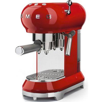 Smeg 1950's Retro Style Espresso Coffee Machine & Steamer in Red