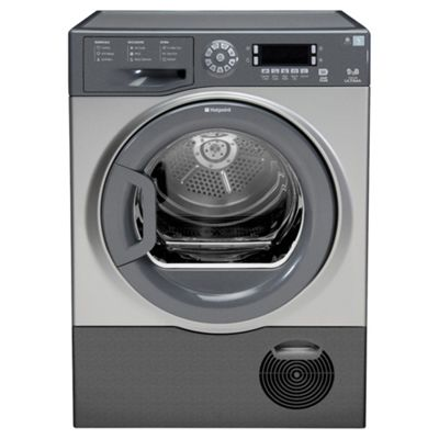 Hotpoint TCUD97B6G Condenser Tumble Dryer, 9Kg Load, B Energy Rating, Graphite