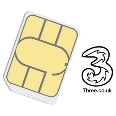 Three 4G Pay as you go SIM Card