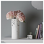 Fox & Ivy White Lace Cut Out Ceramic Vase