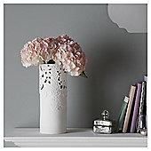 Fox & Ivy White Lace Cut Out Ceramic Vase