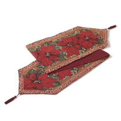 Christmas Tapestry Festive Table Runner 13x72in