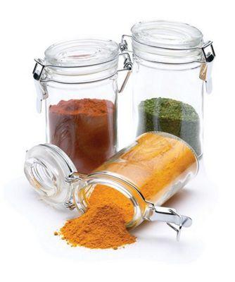 KitchenCraft 0.1 Litre Mini Clip Top Glass Jars (set of 12)