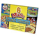 Smart Kids Six Maths Board Games - Pack 1