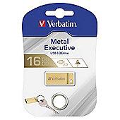 Verbatim 99104 16GB USB 3.0 Gold Metal USB Flash Drive