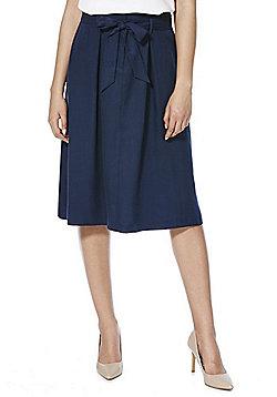 F&F Tencel® Midi Skirt - Navy