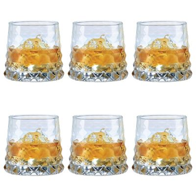 Durobor Gem Vintage Cocktail Glass Drinking Tumbler - 330ml - Pack of 6 Glasses