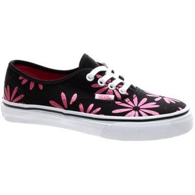 Vans Authentic (Sparkle) Black Kids Shoe WWXDTR