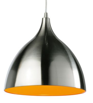 Firstlight Café Pendant with Orange Inside