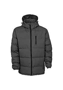 Trespass Mens Clip Padded Jacket Red 3XL - Grey