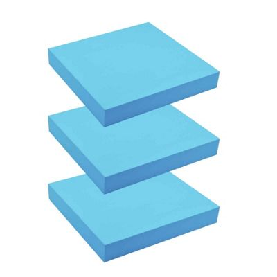 Floating Wooden Wall Shelves Shelf Wall Storage 25cm x 25cm - Blue x3