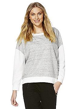 F&F Active Colour Block Sweatshirt - Grey & Cream