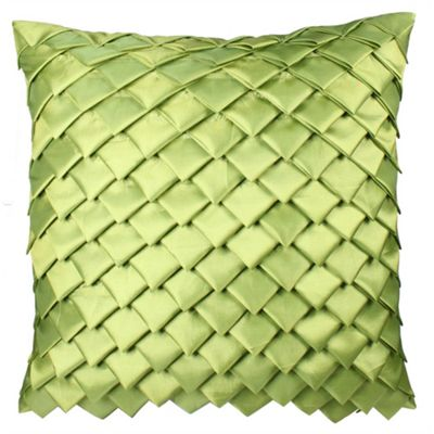 Satin Folds Cushion - Pistachio