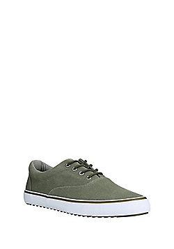 F&F Lace-Up Canvas Shoes - Khaki