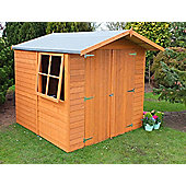 7X7 Overlap Shed with Apex Roof, Double Doors & Safety Glazing By Finewood