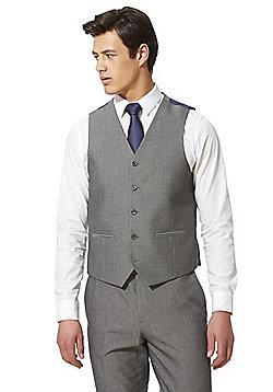 F&F Check Regular Fit Waistcoat - Silver Grey