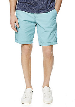 F&F Turn-Up Chino Shorts - Turquoise