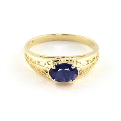QP Jewellers 1.15ct Sapphire Catalan Filigree Ring in 14K Gold - Size Q 1/2