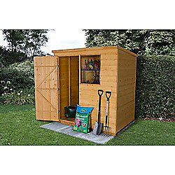 Forest Garden 6x4 Shiplap Dip Treated Pent Shed
