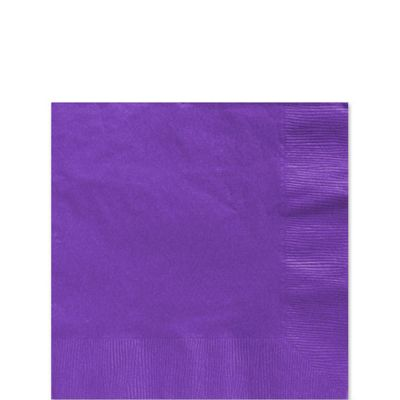 Purple Beverage Napkins - 2ply Paper - 20  Pack