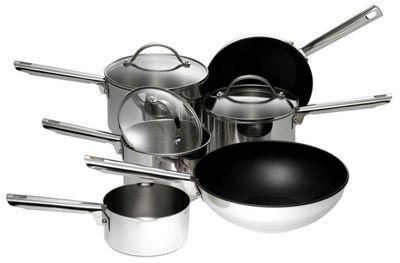 Meyer 6 Piece Stainless Steel Pan Set