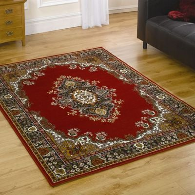 Home Essence Element Lancaster Red Contemporary Rug - 320cm x 220cm (10 ft 6 in x 7 ft 2.5 in)