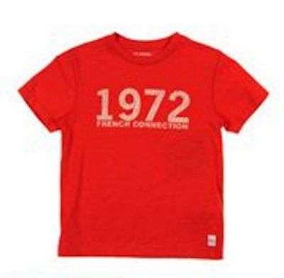 French Connection Red '1972' Logo Tee 6-7Y