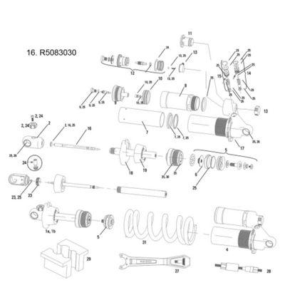 RockShox Hot Rod Adjuster Needle/O-Ring Vivid/Vivid Air 2011 222x70/229x70mm