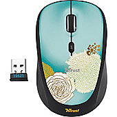 Trust Yvi Mouse - Optical - Wireless - Flower