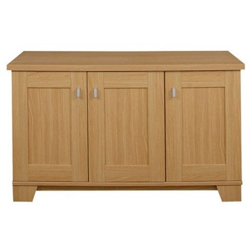 Caxton Sherwood 3 Door Sideboard in Natural Oak