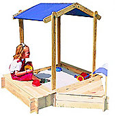 Wickey Sandpit Peter Pan with adjustable roof