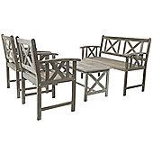 Charles Bentley Isla Hardwood 5Pc Lounge Set