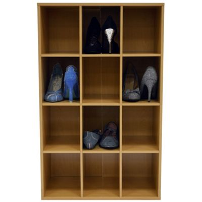 Pigeon Hole - Shoe Storage / Display / Media Shelves - Beech
