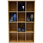Pigeon Hole - Shoe Storage / Display / Media Shelves - Beech