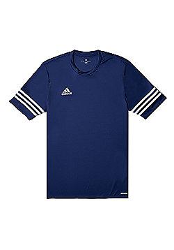 adidas Entrada 14 Short Sleeve Mens Football Training T-Shirt Navy Blue - L