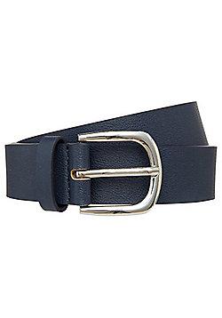 F&F Faux Leather Belt - Navy