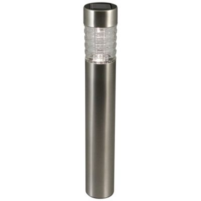 Luxform Solar Tacoma Post Light in Stainless Steel - Display Pack of 15
