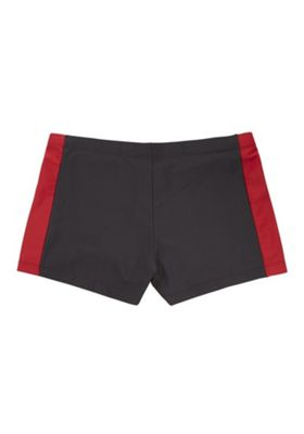 F&F Colour Block Hipster Swimming Trunks Black/Red XL