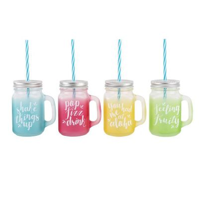 Tropical Drinking Jars