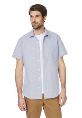 F&F Striped Shirt and T-Shirt Set Blue L