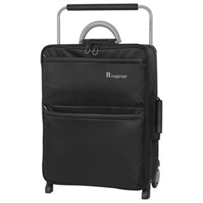 it luggage Worlds Lightest Cabin 2 wheel Black Suitcase
