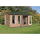 4.0m x 3.0m Log Cabin With Double Doors - 34mm Wall Thickness