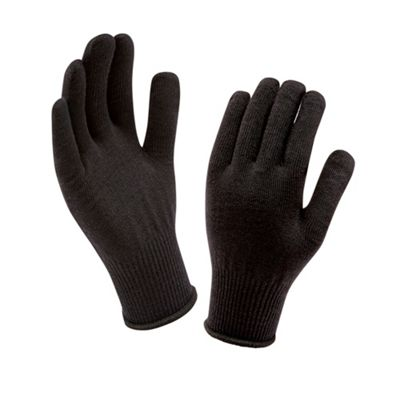 Sealskinz Mens Thermal Liner Glove Black One Size