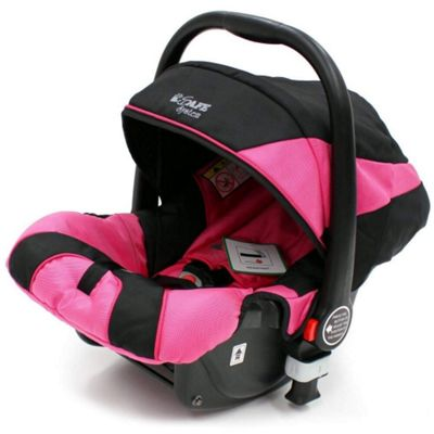 iSafe Pram System Group 0+ Car Seat (Black/Pink)