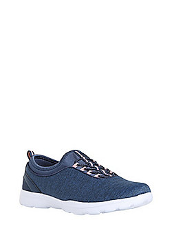 F&F Active Elastic Lace Sock Trainers - Blue marl