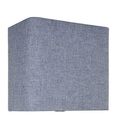 Blue Linen 12 Inch Rectangular Shade (Dual Fitting)