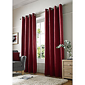 Alan Symonds Chenille Eyelet Curtains - Red